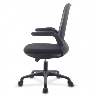 Office Chair Adjustable in Height and Variable Tilt Black - Techly - ICA-CT ARMDL-BK-2