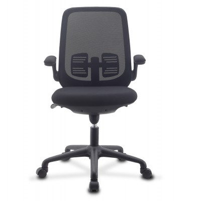 Office Chair Adjustable in Height and Variable Tilt Black - Techly - ICA-CT ARMDL-BK-1