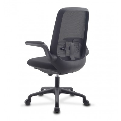 Office Chair Adjustable in Height and Variable Tilt Black - Techly - ICA-CT ARMDL-BK-3