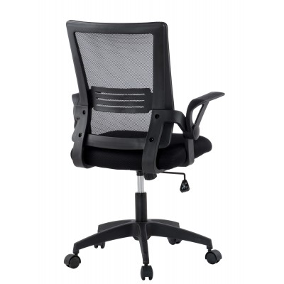 Black Office chair with padded seat and net fabric back - Techly - ICA-CT MC003BK-3