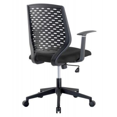 Office chair with padded seat and back in polypropylene - Techly - ICA-CT MC011BK-3