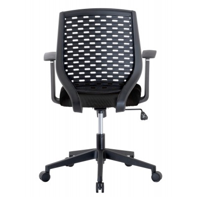 Office chair with padded seat and back in polypropylene - Techly - ICA-CT MC011BK-4