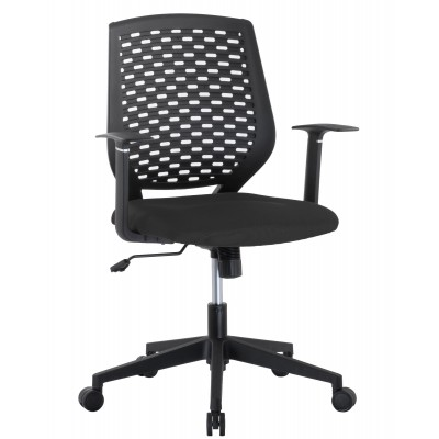 Office chair with padded seat and back in polypropylene - Techly - ICA-CT MC011BK-1