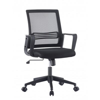 Office Chair with Padded Seat and Mesh Backrest - Techly - ICA-CT MC063BK-1