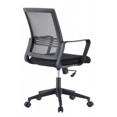 Office Chair with Padded Seat and Mesh Backrest - Techly - ICA-CT MC063BK-2