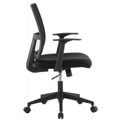 Office chair with padded seat and net fabric back - Techly - ICA-CT MC087BK-2