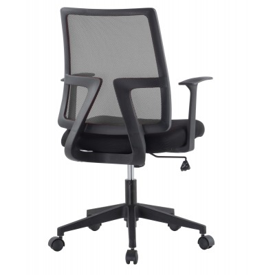 Office chair with padded seat and net fabric back - Techly - ICA-CT MC087BK-3