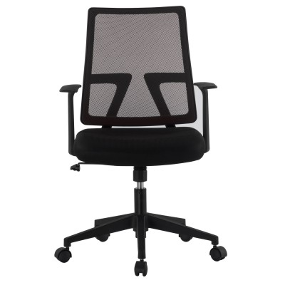 Office chair with padded seat and net fabric back - Techly - ICA-CT MC087BK-1