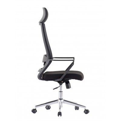 Office Chair with High Back and Black Chromed Base - Techly - ICA-CT MCA033-2