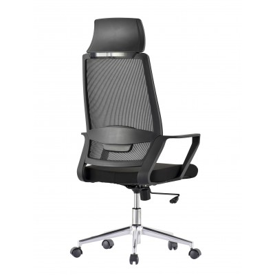 Office Chair with High Back and Black Chromed Base - Techly - ICA-CT MCA033-3