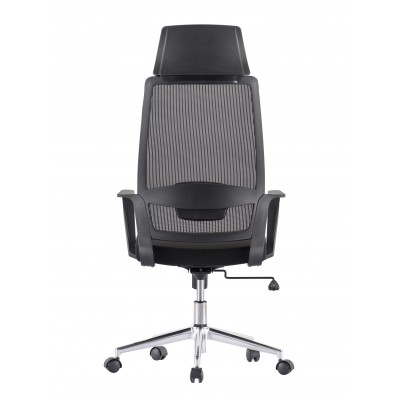 Office Chair with High Back and Black Chromed Base - Techly - ICA-CT MCA033-4