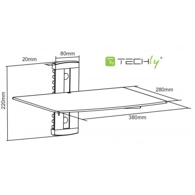Wall Shelf for Audio-Video Equipment - Techly - ICA-DRS 502-2