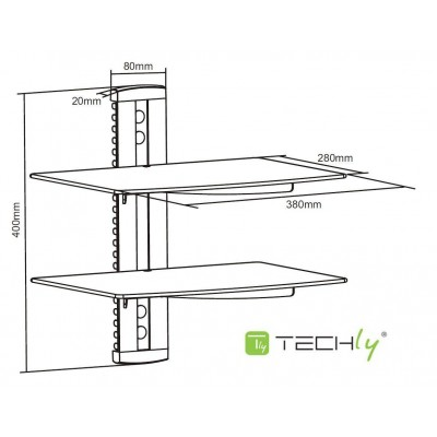 Wall Shelves for Audio-Video Equipment - Techly - ICA-DRS 503-2