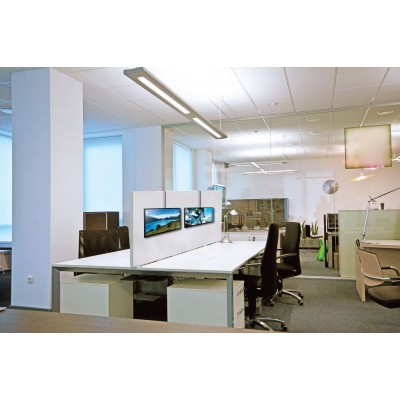Cubicle Hanging Monitor Mount - Techly - ICA-LCD 10-6