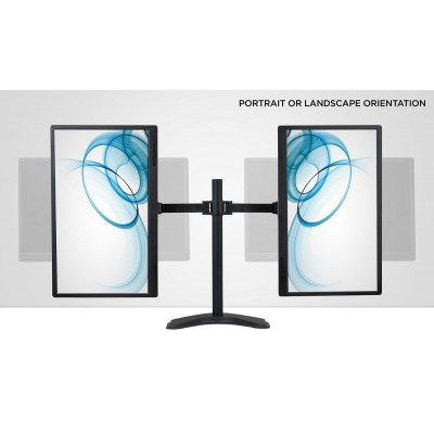 """Desk Stand for 2 Monitor 13""""-27"""" with Base - Techly - ICA-LCD 2510-4"""