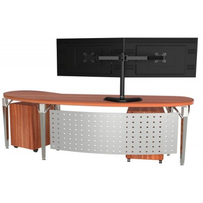 """Desk Stand for 2 Monitor 13""""-27"""" with Base - Techly - ICA-LCD 2510-5"""