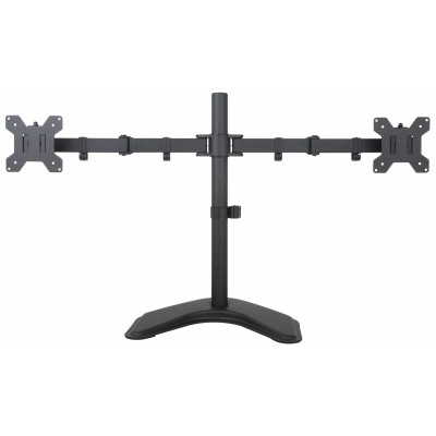 """Desk Stand for 2 Monitor 13""""-27"""" with Base - Techly - ICA-LCD 2510-1"""
