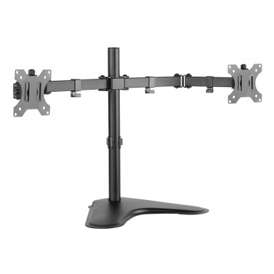 """Double Joint Monitor Arm for 2 Monitors 13-32"""" with base - Techly - ICA-LCD 2524-1"""