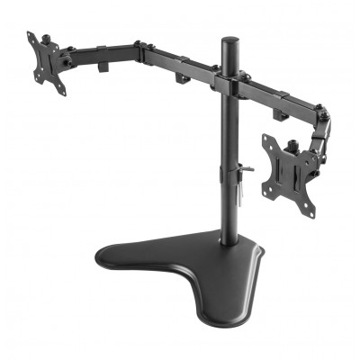 """Double Joint Monitor Arm for 2 Monitors 13-32"""" with base - Techly - ICA-LCD 2524-3"""