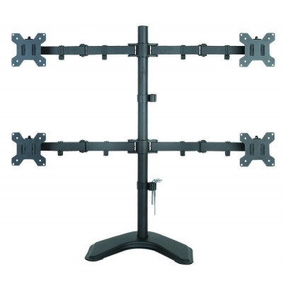 """Desk monitor arm for 4 Monitor 13-27"""" with base - Techly - ICA-LCD 2540-1"""