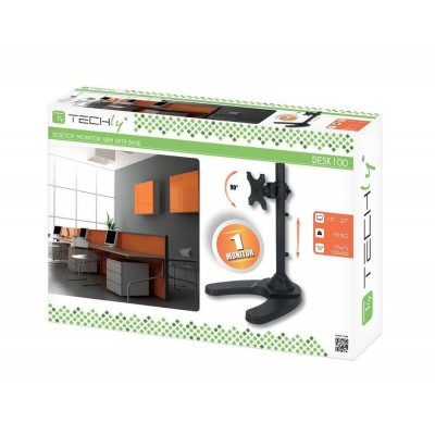 """Desk Stand for 1 Monitor 13 """"-27"""" with Base - Techly - ICA-LCD 3500-1"""