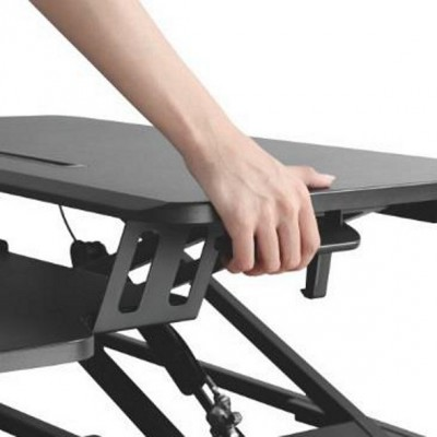 Work station desk sitting/standing posture with gas spring - Techly - ICA-LCD 400-3