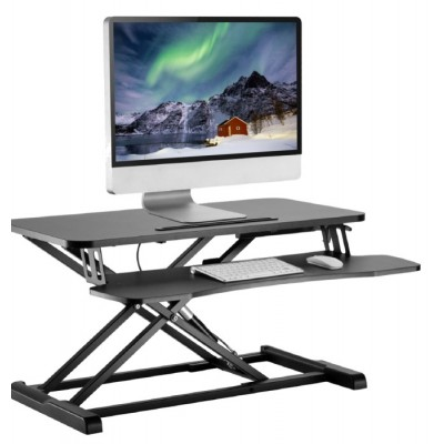 Work station desk sitting/standing posture with gas spring - Techly - ICA-LCD 400-1