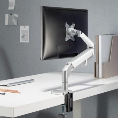 """Desk stand for 17-32"""" monitor  with Gas Spring White Silver - Techly - ICA-LCD 441-5"""