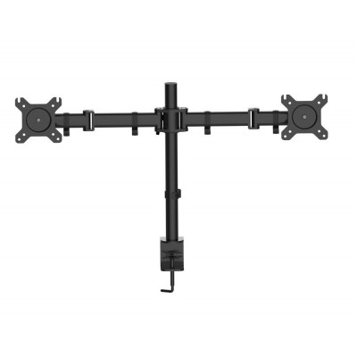 """Desk Stand for 2 Monitor 13""""-27"""" with Clamp - Techly - ICA-LCD 483-D-1"""