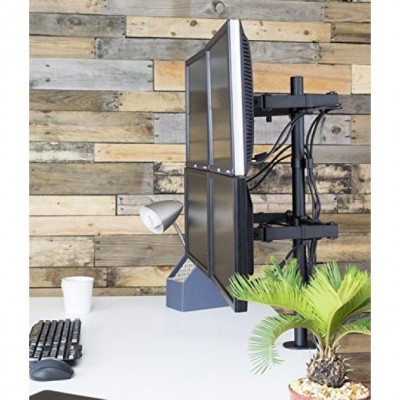 """Desk Stand for 4 Monitor 13""""-27"""" with Clamp - Techly - ICA-LCD 483-Q-2"""