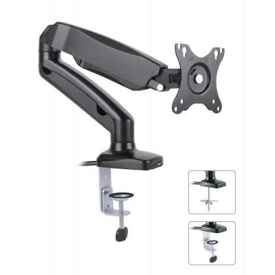 "13-27"" Monitor Desk Mount with USB and audio ports  - Techly - ICA-LCD 514-1"