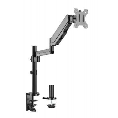 """Gas Spring Monitor Arm 17-32"""", black - Techly - ICA-LCD 516B-3"""