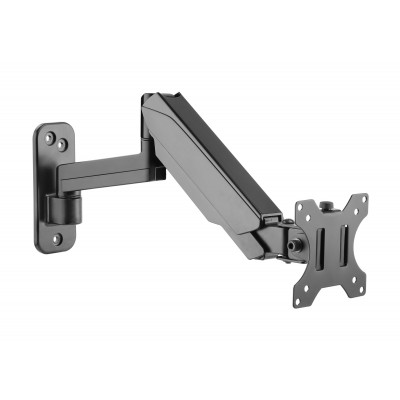 Wall Mounted Gas Spring Monitor Arm - Techly - ICA-LCD G112-4