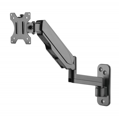 Wall Mounted Gas Spring Monitor Arm - Techly - ICA-LCD G112-2
