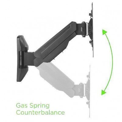 """Gas Wall Mount for Curves / Plates 23-42"""" TV 383mm Black - Techly Np - ICA-LCD G221-BK-1"""