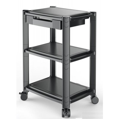 Height-Adjustable Smart Cart with Three-Shelves and Drawer - Techly Np - ICA-MS 405-1