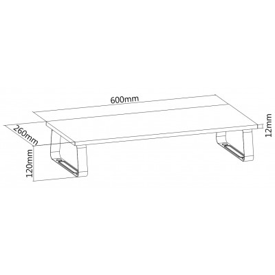 Universal Desk Stand in Steel for Monitor/Laptop - Techly - ICA-MS 600TY-6