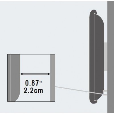 "40""-65"" Ultra-Slim Wall Bracket for LED LCD TV Fixed - Techly - ICA-PLB 132L-3"