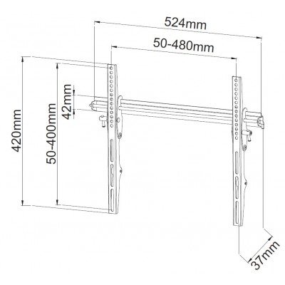 "23-55"" LCD LED TV Wall Bracket - Techly - ICA-PLB 133MTY-7"
