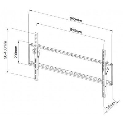 "Fixed Wall Bracket LCD LED TV 42-80"" - Techly - ICA-PLB 161XL-3"