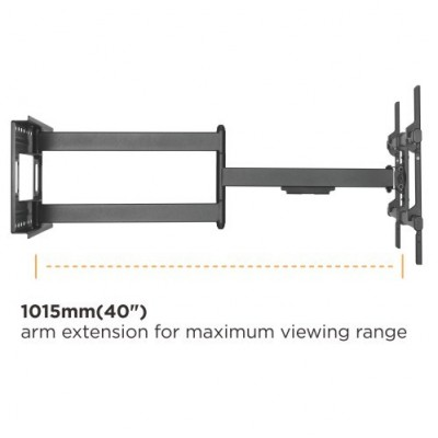 """Wall Bracket Extendable Arm up to 1015 mm for LCD 43-80"""" Black - Techly - ICA-PLB 490-5"""