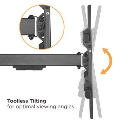 """Wall Bracket Extendable Arm up to 1015 mm for LCD 43-80"""" Black - Techly - ICA-PLB 490-6"""