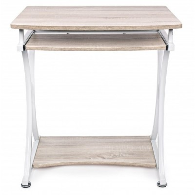 Compact PC Desk with Removable Drawer White/Oak - Techly - ICA-TB 328O-5