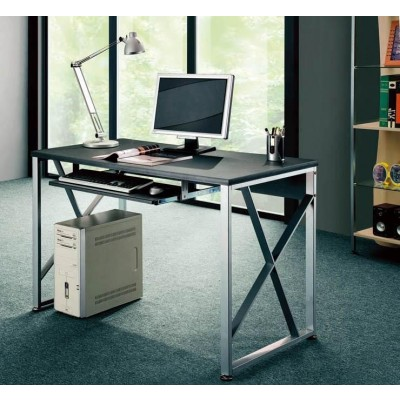 PC Desk with Pullout Drawer, Graphite Black - Techly - ICA-TB 349-2