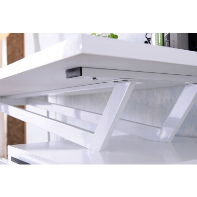 Computer Desk with Three Drawers Glossy White - Techly - ICA-TB 3533W-4