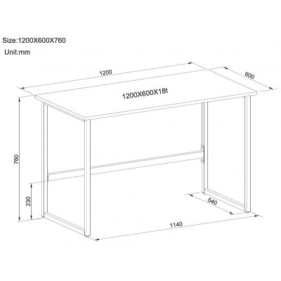 White Multifunctional Computer Desk - Techly - ICA-TB 3545W-2
