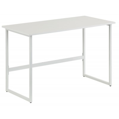 White Multifunctional Computer Desk - Techly - ICA-TB 3545W-1