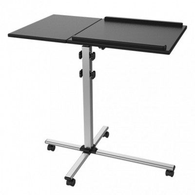 Universal Adjustable Trolley for Notebook Projector, Black - Techly - ICA-TB TPM-2-1