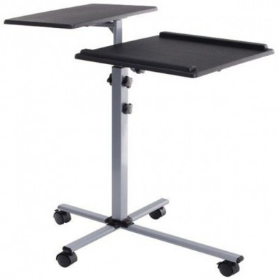 Universal Adjustable Trolley for Notebook Projector, Black - Techly - ICA-TB TPM-2-2