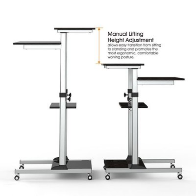 Compact Height-Adjustment Mobile Cart - Techly - ICA-TB TPM-3-3